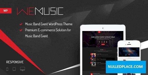 WeMusic v1.8.0 – Music Band Event WordPress Theme