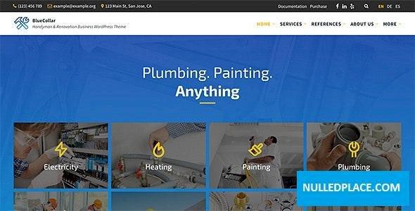 BlueCollar v2.5.1 – Handyman & Renovation Business WordPress Theme