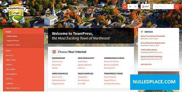 TownPress v3.3.1 – Municipality WordPress Theme