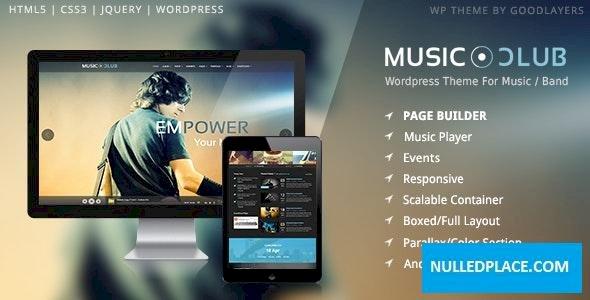 Music Club v1.6 – Band   Party WordPress