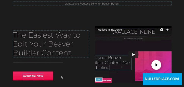 Wallace Inline v2.2.16 – Front-end editor for Beaver Builder