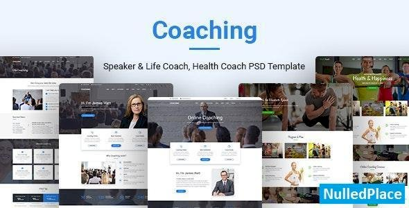 Coaching v1.0 – Speaker & Life Coach, Health Coach PSD Templates