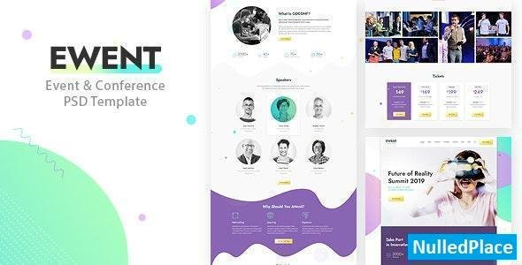Ewent – Event & Conference PSD Template