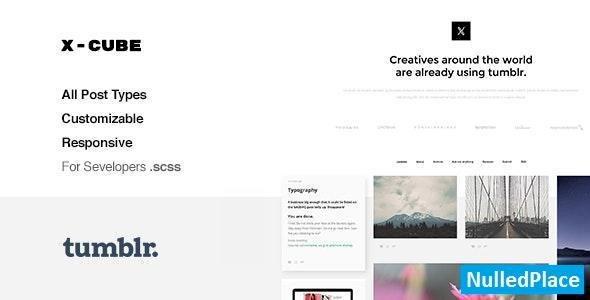 X-Cube v1.2.4 – Portfolio, Grid-Based Tumblr Theme