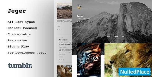 Jeger v1.1.2 – Responsive Portfolio Tumblr Theme