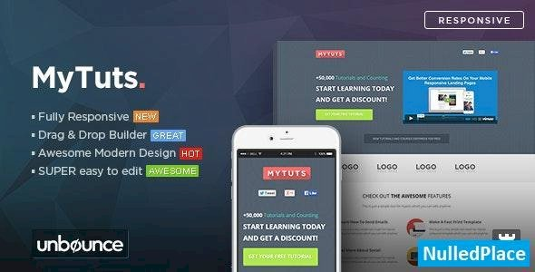 MyTuts v1.0 – Education Unbounce Template