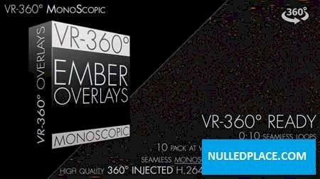 Videohive Burning Ember Overlay VR-360° Editors Pack (Monoscopic) 19015940 Free