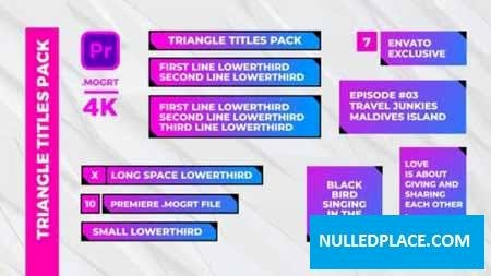 Videohive Triangle Titles Pack 22532835 Free