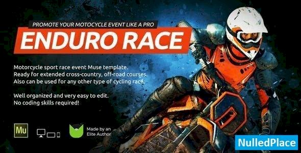 Enduro – Extreme Motorcycle Race Event Website Muse Template