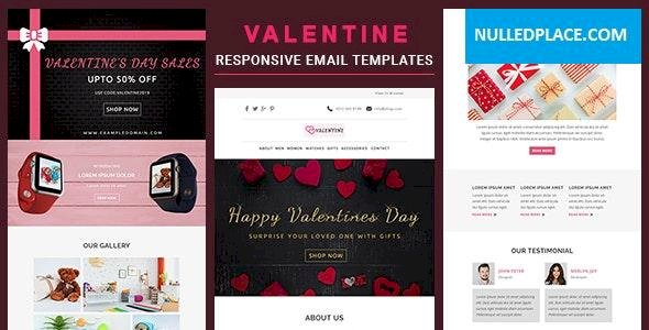Valentine v1.0 – Responsive Email Template With Online StampReady
