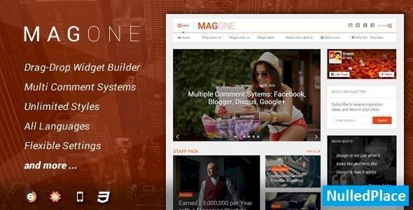 MagOne v5.5.0 – Responsive News & Magazine Blogger Template