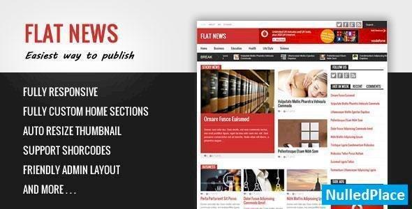 Flat News – Themeforest Easy News & Magazine Blogger Template