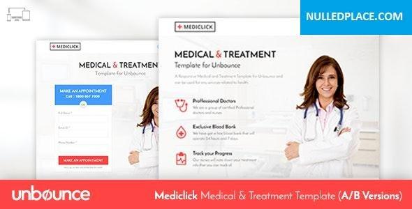 Mediclick v1.0 – Unbounce Medical Landing Page Template