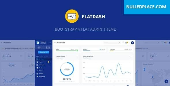 FlatDash v1.0.0 – Bootstrap 4 Flat Admin Theme