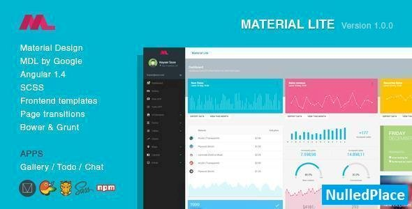 Material Lite – MDL with AngularJS Admin Dashboard