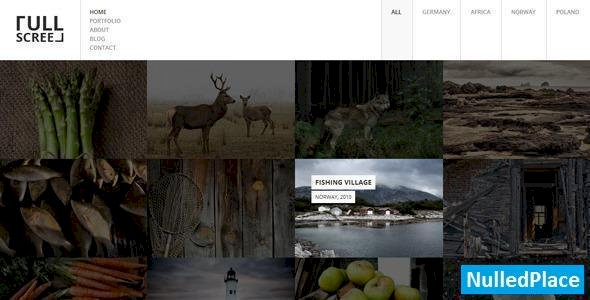 Fullscreen v1.3 – Photography Portfolio Drupal Theme