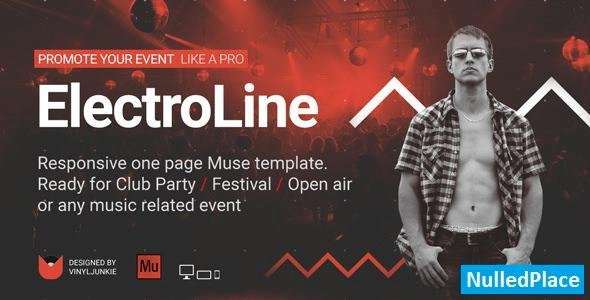 ElectroLine – One Page Event Promo Muse Template