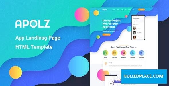 Apolz v1.0 – App Landing Page HTML Template