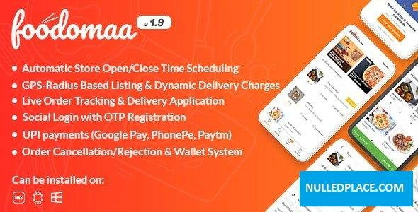 Foodomaa v1.9.4 – Multi-restaurant Food Ordering, Restaurant Management and Delivery Application