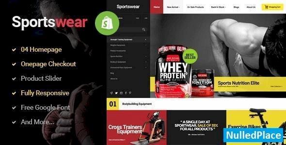 Sportwear – Multi Store Responsive Shopify Theme