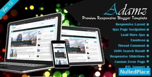 Adamz – Themeforest Responsive Blogger Template