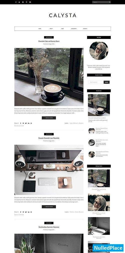 SILVANA – Blogger Template Responsive