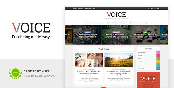 Voice Nulled v.2.9.4.1 – Clean News/Magazine WordPress Theme Free Download