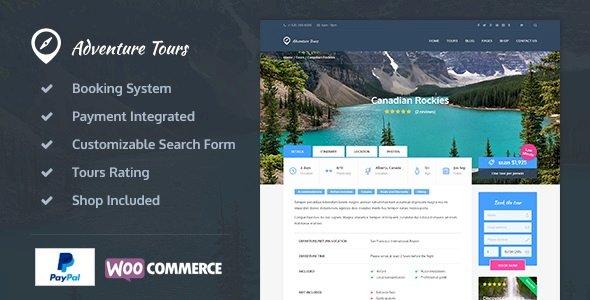 Adventure Tours v.3.9.2.1 Nulled – WordPress Tour/Travel Theme Free Download