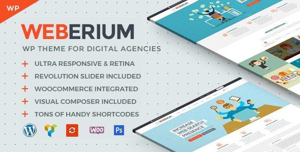 Weberium | Responsive WP Theme Tailored for Digital Agencies v1.11