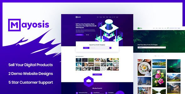 Mayosis – Digital Marketplace WordPress Theme v2.8.4
