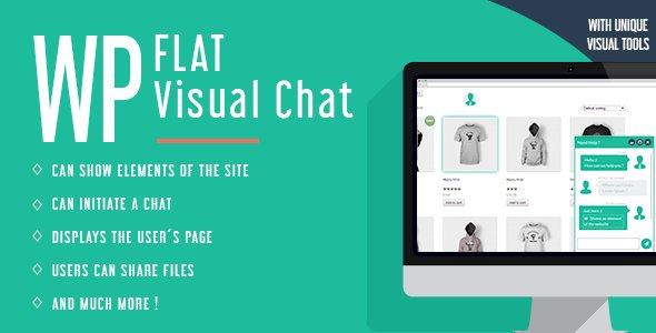 WP Flat Visual Chat – Live Chat & Remote View for WP Free v5.399