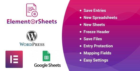 ElementorSheets – Elementor Pro Form Google Spreadsheet Addon v3.1