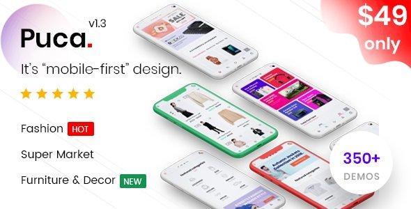 Puca – Optimized Mobile WooCommerce Theme v2.4.2