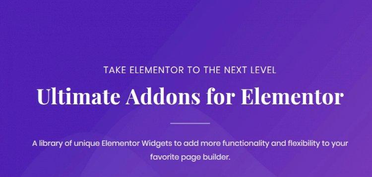 Ultimate Addons for Elementor – Best 1 Elementor Addons & Widgets v1.35.0 Nulled