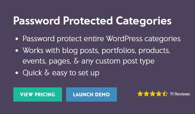 Barn2 Media Password Protected Categories v2.1.0