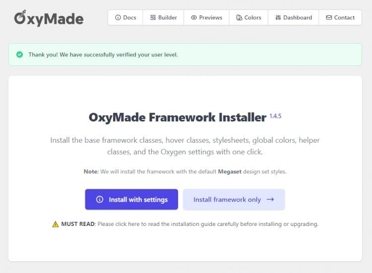 OxyMade for Oxygen builder v1.4.11